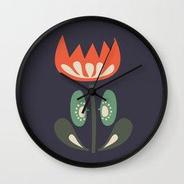 Scandinavian Wildflowers Wall Clock