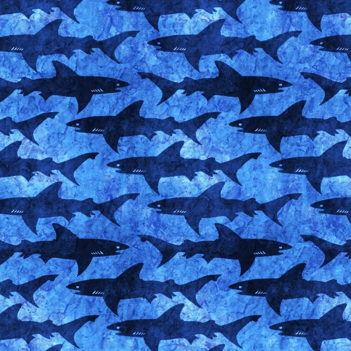 Sharks in the Blue, Blue Sea Leggings
