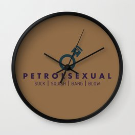 PETROLSEXUAL v4 HQvector Wall Clock