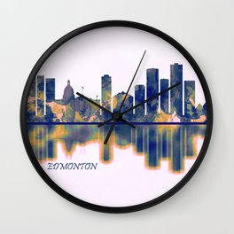 Edmonton Skyline Wall Clock