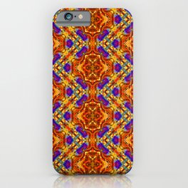Warm Aztec Zigzag iPhone Case
