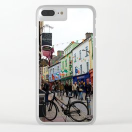 Galway Streets Clear iPhone Case