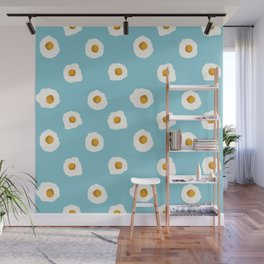 eggs breakfast food fight apparel and gifts Wall Mural