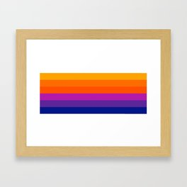 Bright Rainbow / Straight Framed Art Print