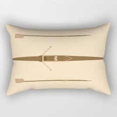 rowing single scull Rectangular Pillow