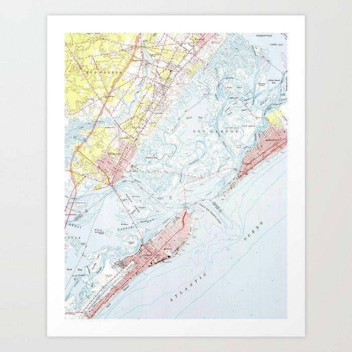 Vintage Map of Ocean City NJ (1952) Art Print by vuramedia on rio grande, bethany beach, ocean county nj map, long beach island nj map, ocean city boardwalk, ocean city md map, camden nj map, lbi nj map, ocean city maryland, ocean city high school, cape may, wildwood crest, ocean city parking map, sandy hook, beach haven nj map, cape may nj map, sea isle city, toms river nj map, ocean city boardwalk map, ventnor nj map, ocean city new jersey hotels, mystic island nj map, ocean county, north wildwood, avalon nj map, toms river, long beach island, cherry hill township nj map, seaside park nj map, point pleasant nj map, jersey city, ocean city new jersey streets, stone harbor, ocnj street map, atlantic city, asbury park, cape may county,