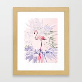 Floating Flamingo Framed Art Print