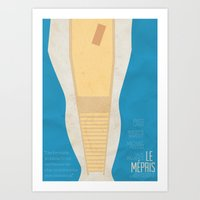 "godard Art Prints featuring Contempt ""Le Mépris"" J.L Godard Alternative Poster by Stefanoreves"