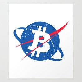 Bitcoin Art Print