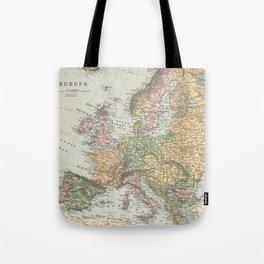Vintage Map of Europe (1892) Tote Bag