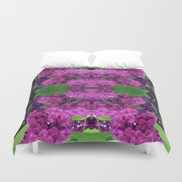 216 - lilacs abstract design Duvet Cover