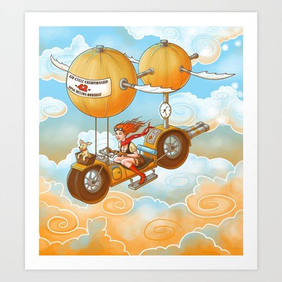 Air Cycle Championship 1916 Art Print
