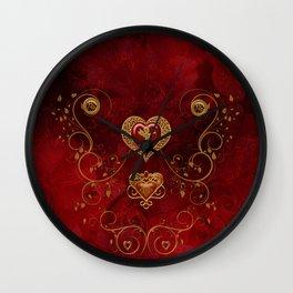 Wonderful hearts with angel Wall Clock