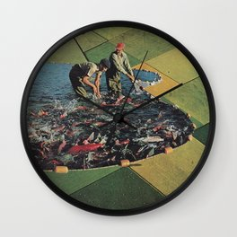 Salmon Farm Wall Clock