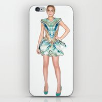 lindsay lohan iPhone & iPod Skins featuring Lohan in McQueen by russianelf