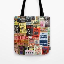 Vintage Rock Concert Posters Tote Bag