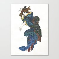japanese Canvas Prints featuring japanese by Maria Durgarian