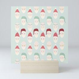 Santas - Mint Mini Art Print