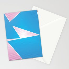 Triangular Thoughts - Pink and Blue Stationery Cards