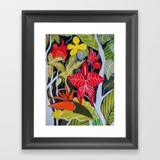 Paradise Flowers Framed Art Print