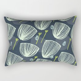 Tulip Garden M+M Navy Black by Friztin Rectangular Pillow