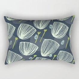 Tulip Garden M+M Navy Black by Friztin Rectangular Pillow