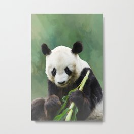 Painting Panda Bear Long Hui Metal Print