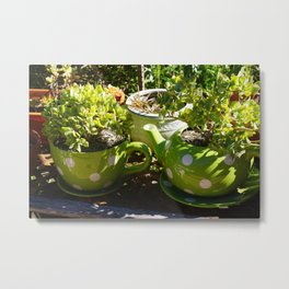 GARDEN TEA PARTY Metal Print