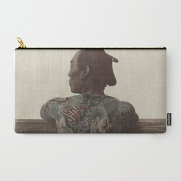 19th Century Japanese Tattoo (Fence) Carry-All Pouch