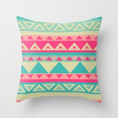 Tropical Tribal Throw Pillow
