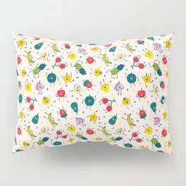 Happy fruits pattern Pillow Sham