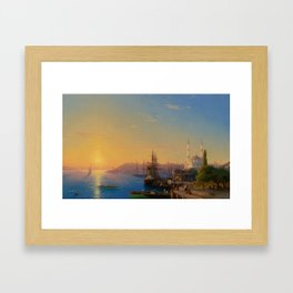 View of Constantinople and the Bosphorus Landscape Masterpiece by Ivan Aivazovsky Framed Art Print