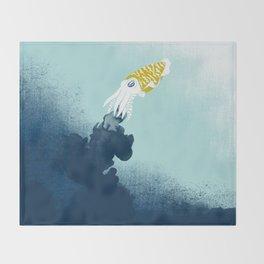 Intelligent Inker - Cranky Cuttlefish Throw Blanket
