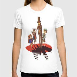 Layton in Gravity Falls T-shirt
