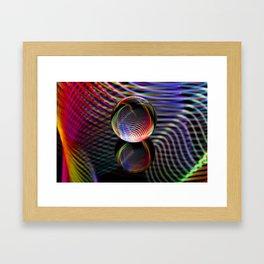 Tartan glass ball Framed Art Print
