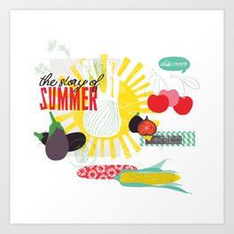 Summer Food Art Print