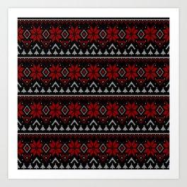 Scandinavian, knitting Art Print