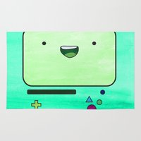 bmo Area & Throw Rugs featuring BMO by Some_Designs
