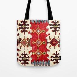 Burdur  Antique South West Anatolia Turkish Kilim Print Tote Bag
