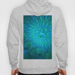 Floral in Sea Colors Hoody