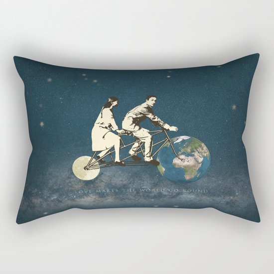 Love Makes The World Go Round Rectangular Pillow