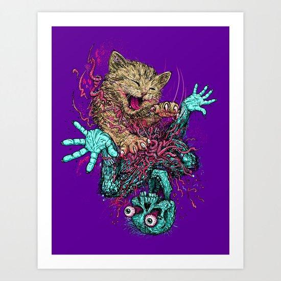 Zombie Nomz Art Print