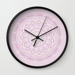 Pink & Cream Mandala Wall Clock