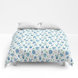 Blue Bunny Pattern Comforters