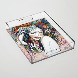 Thinking About Thinking Acrylic Tray