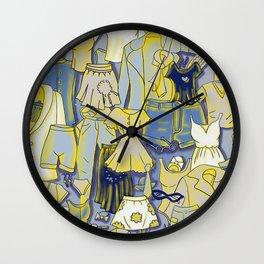 YELLOW CLOTHES Wall Clock