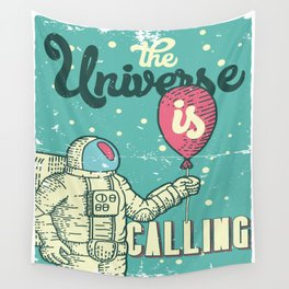 The Universe is calling - Baloon Wall Tapestry