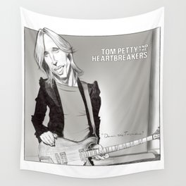 Tom Petty Caricature Wall Tapestry