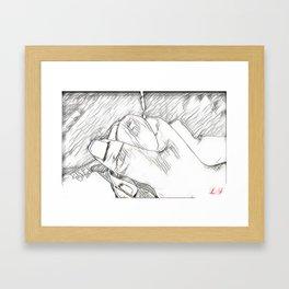 Hand Love Framed Art Print