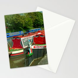 Narrowboats at Devizes Stationery Cards